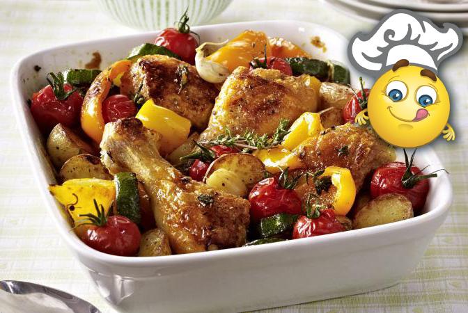 Zapiekanka z kurczaka z warzywami